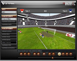 3D fotbal - user environment of player and editing system